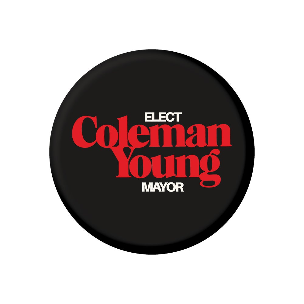 """Image of Coleman Young (2.25"""" Button)"""