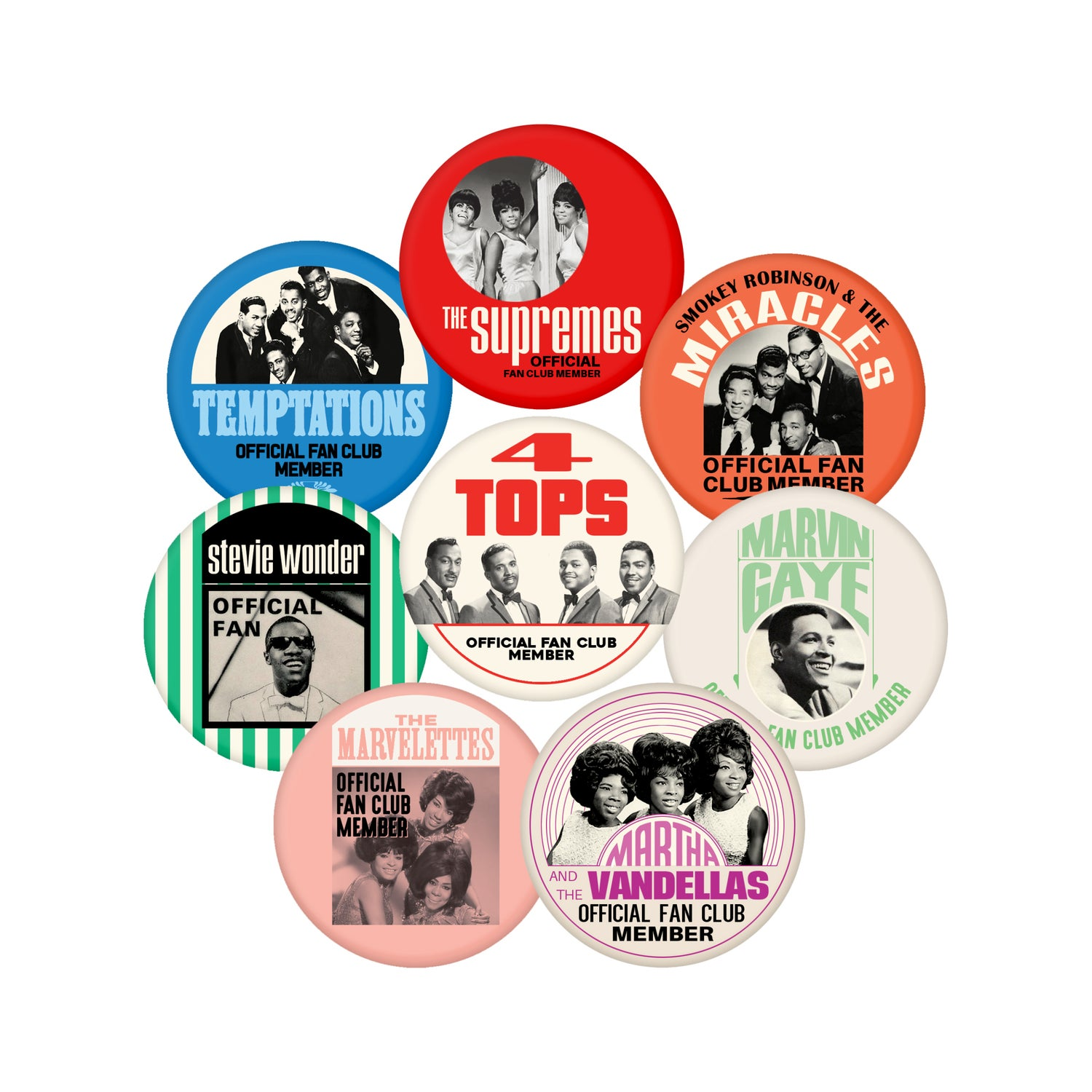 """Image of Motortown Collection (Button Pack - 2.25"""")"""