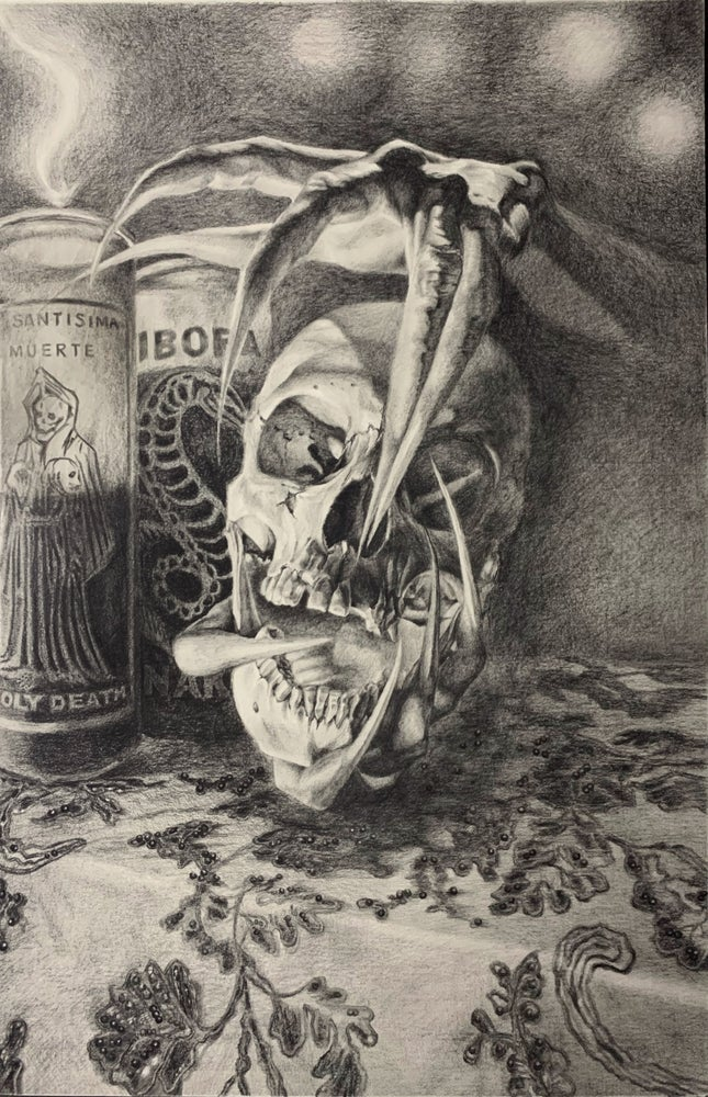 Image of HOLY DEATH original graphite drawing