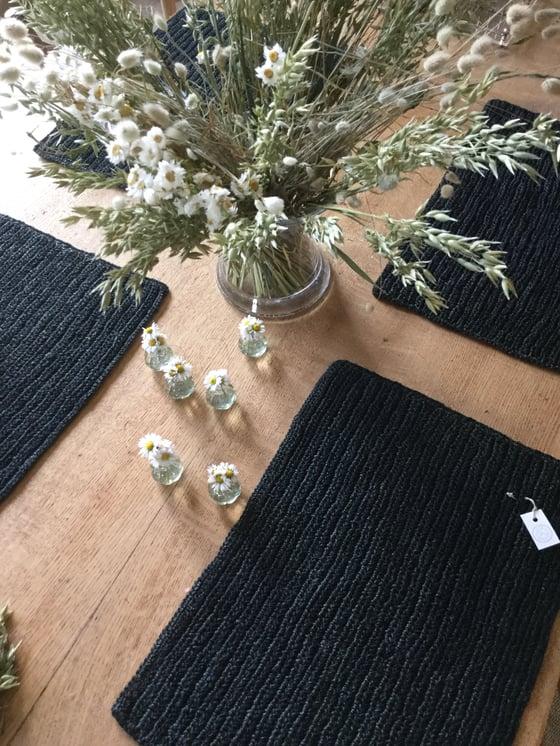 Image of -30% Set de table en fibre crocheté / Noir