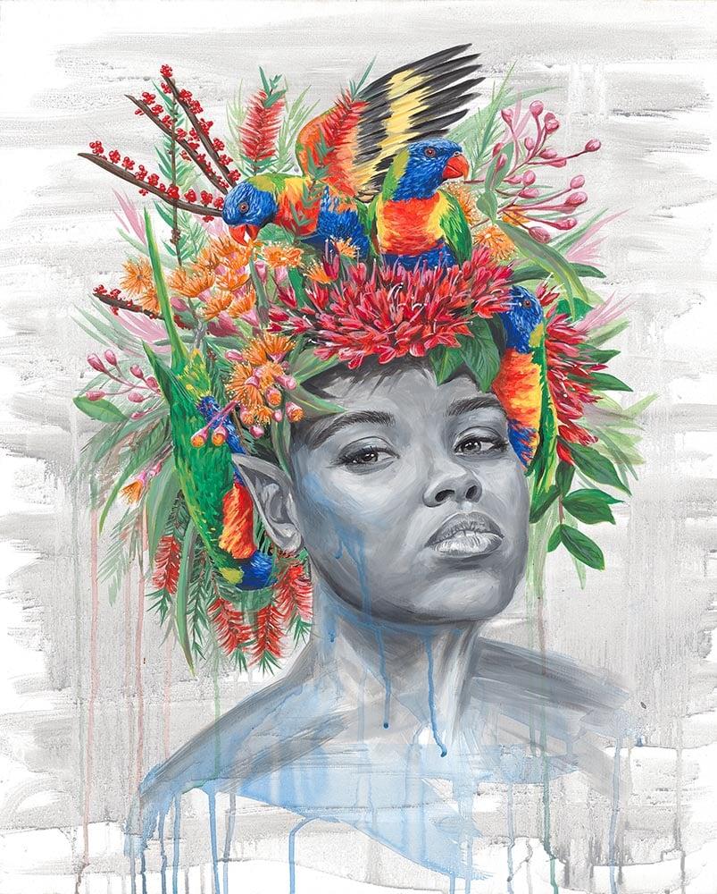 "Image of ""Bird Hair, Don't Care"" - Original Artwork"