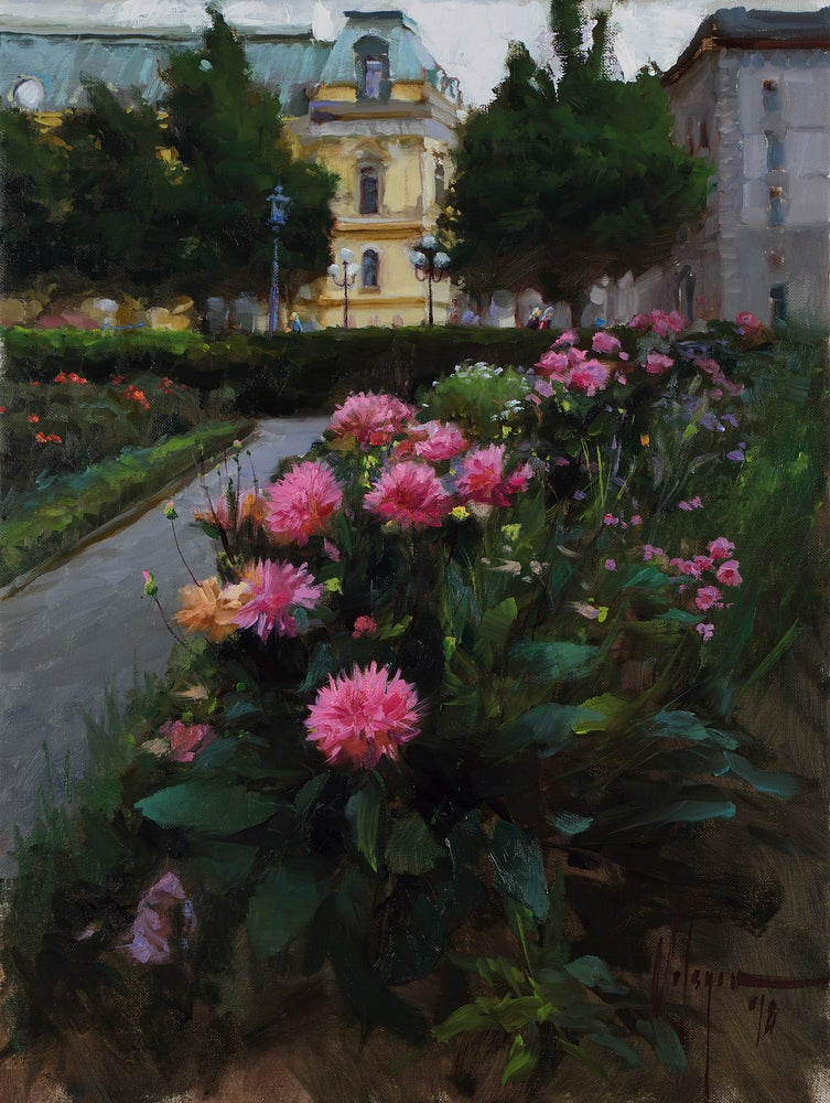 "Image of ""Square at Stockholm"", painting."