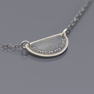 Image of Forever In My Heart Sterling Silver Necklace