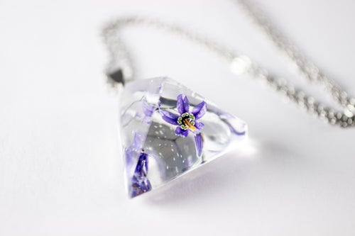 Image of Woody Nightshade (Solanum dulcamara) - Prism Necklace #1