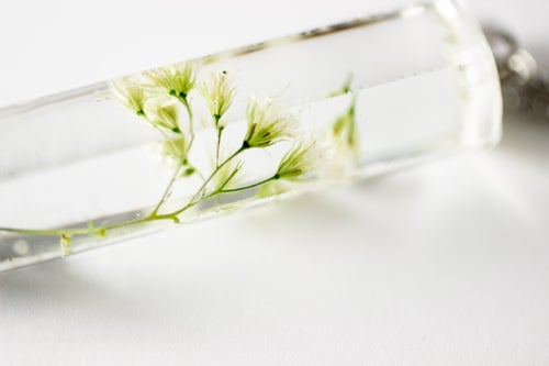 Image of Snakeroot (Ageratina altissima) - Large Crystalline Pendant #1