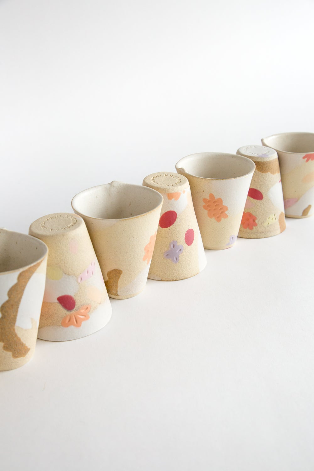 Image of Lemon Tart Porcelain Inlay Tumblers