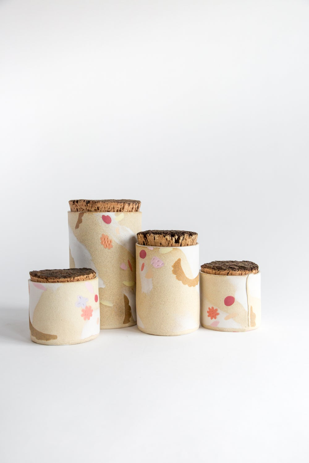Image of Lemon Tart Porcelain Inlay Medium and Small Canister