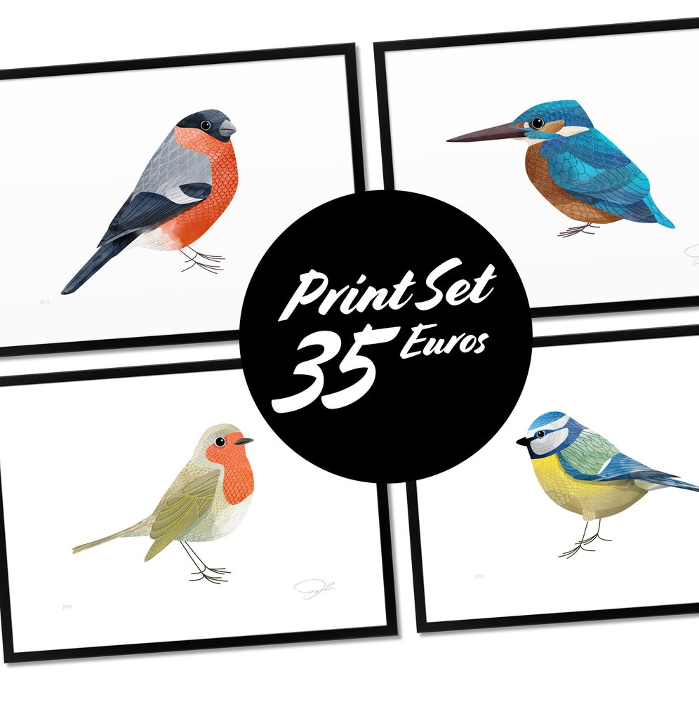 Image of Print Set: Song Birds
