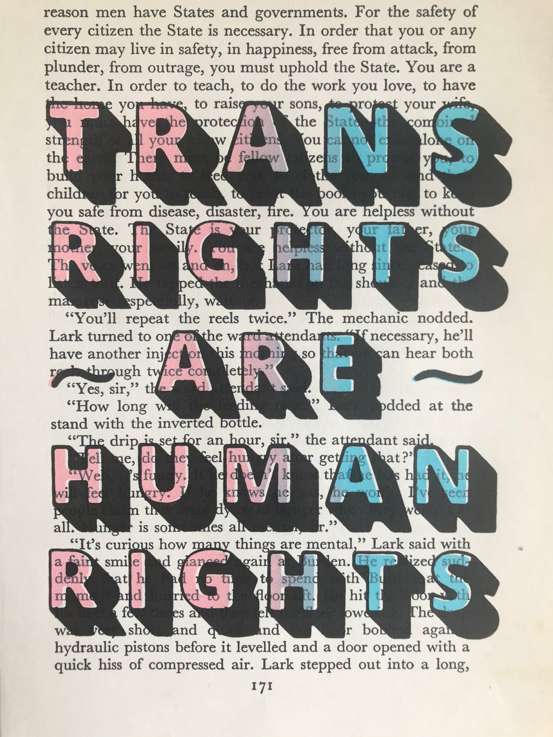Image of Trans Rights Are Human Rights (X2)