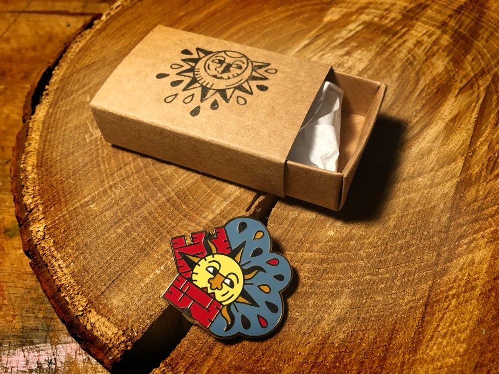 Image of The Sun in the Tower -  enamel pin