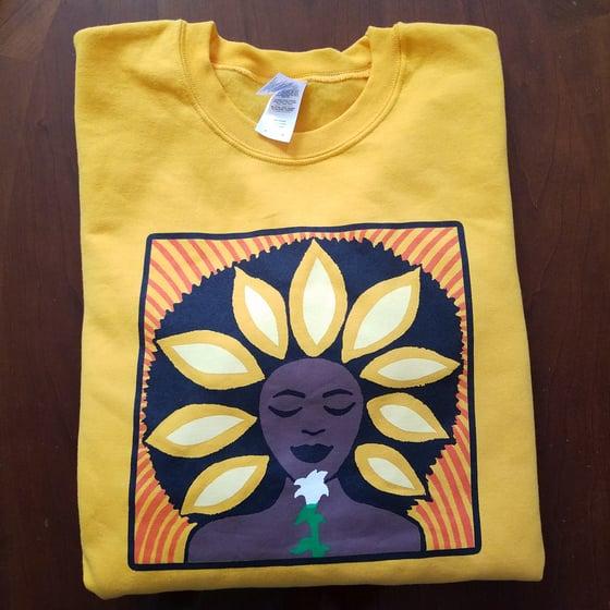 Image of The Sunflower Crew neck Sweatshirt in Gold