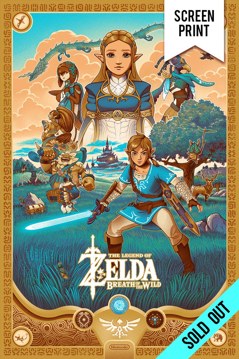 Image of *SOLD OUT* - ZELDA: Breath of The Wild - SCREENPRINT - 24x36