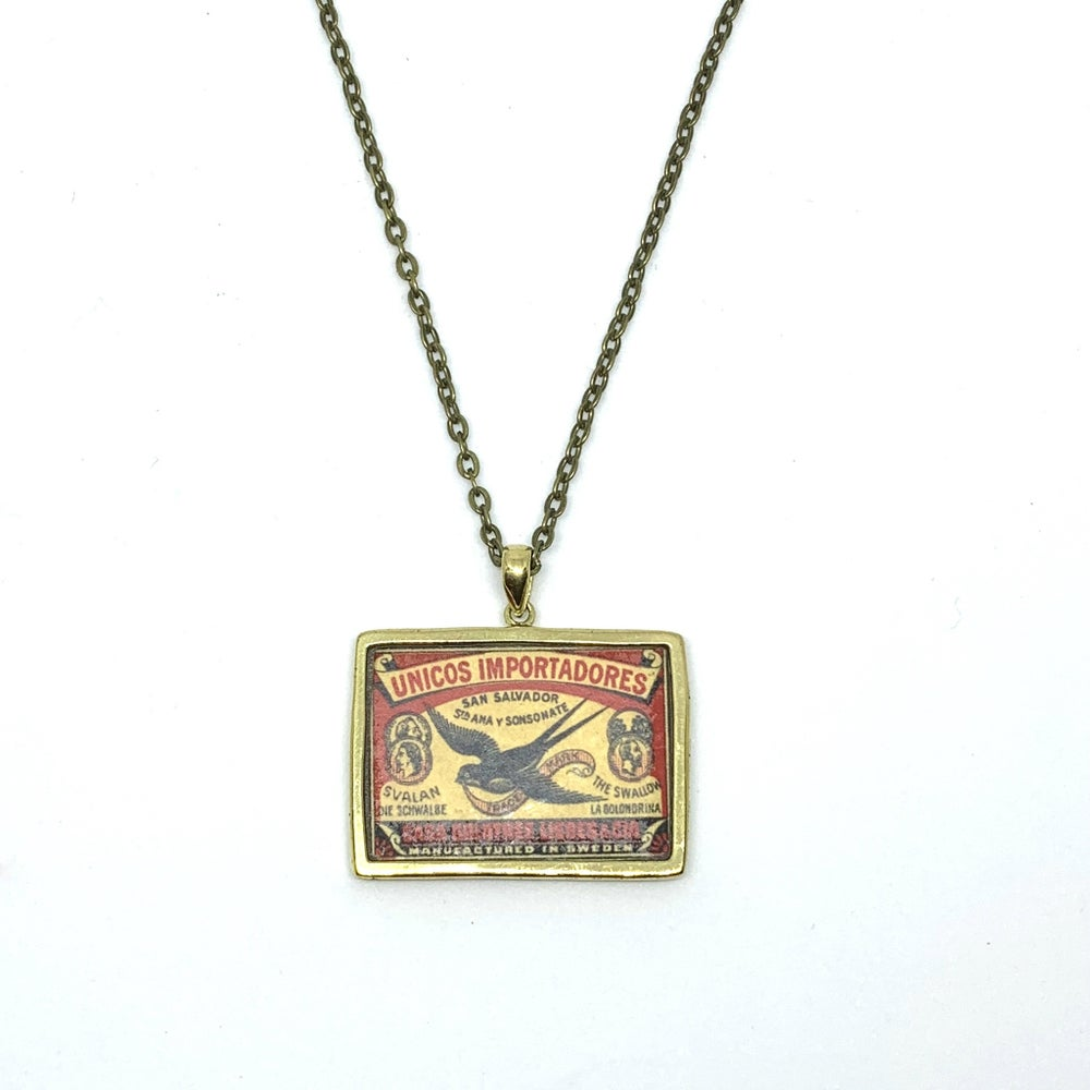 Image of Vintage Matchbox 'Swallow' Pendant