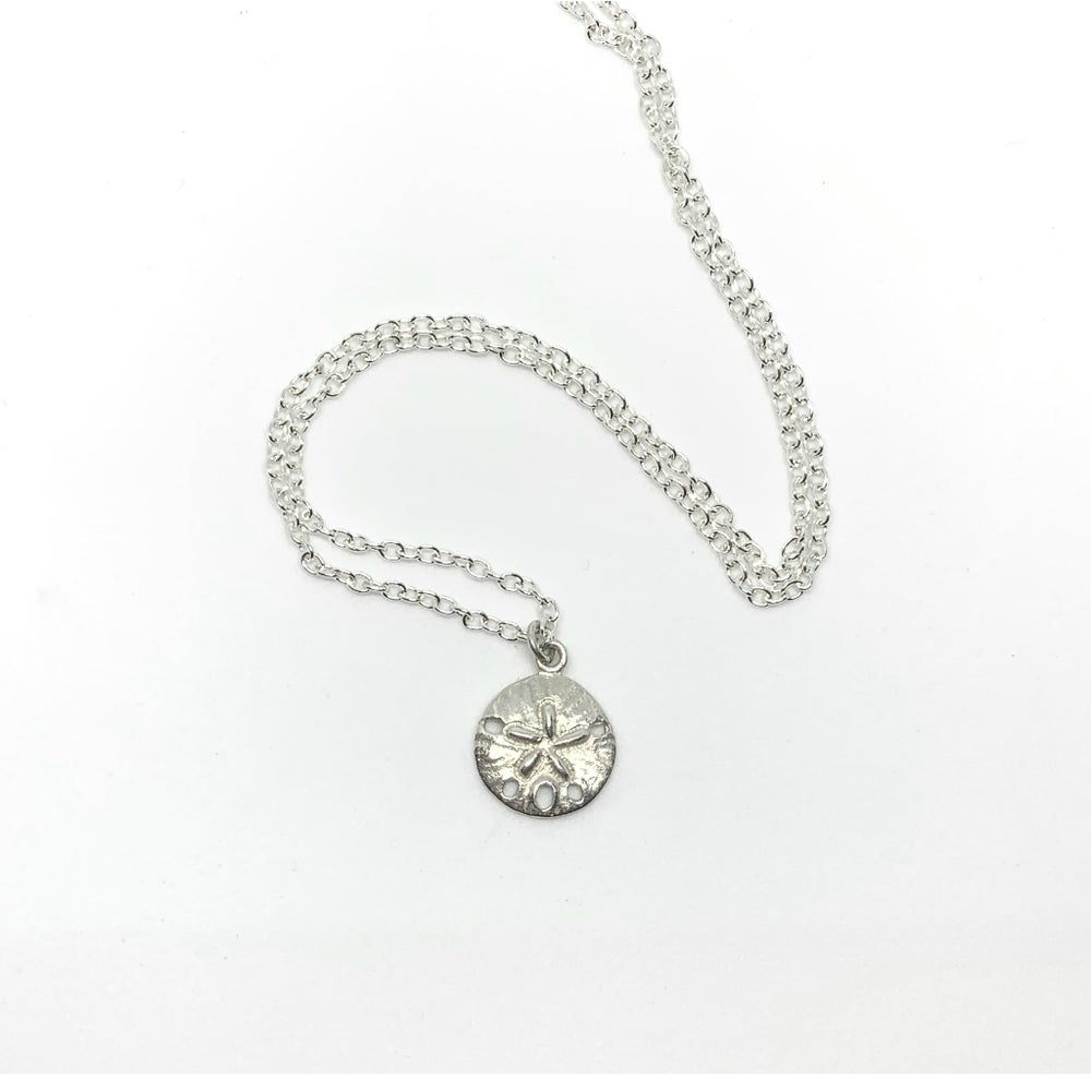 Image of Silver Sand Dollar Charm