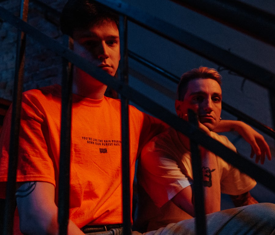 Image of Rain - T-Shirt (Safety Orange / White)