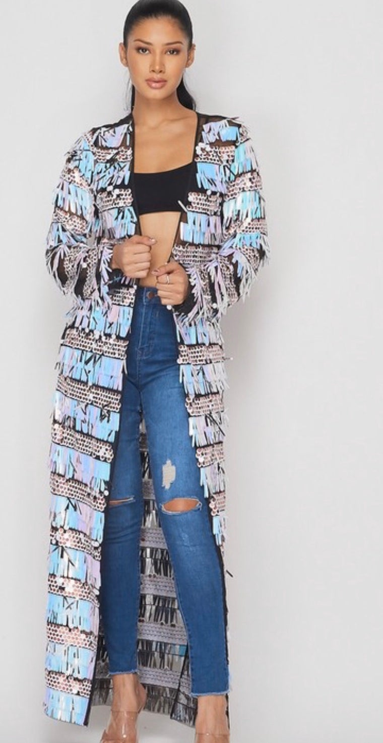 Image of A Good Time- Sequin Cardigan