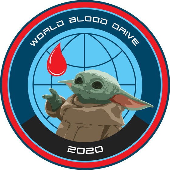 "Image of World Blood Drive 2020 The Child ""Baby Yoda"" 3"" sticker English and Spanish Versions Available"