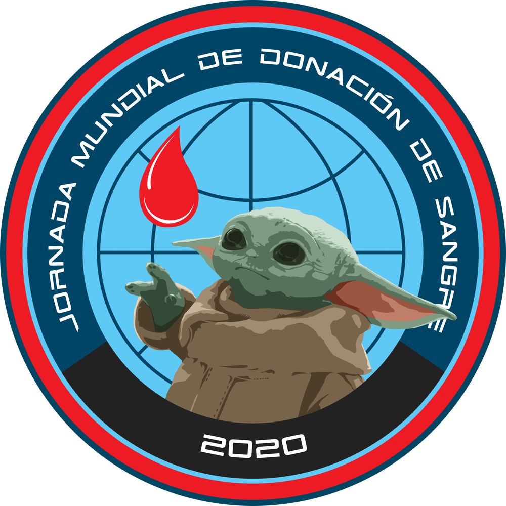 "Image of World Blood Drive 2020 The Child ""Baby Yoda"" 3"" sticker"