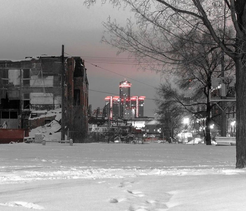 Image of Bright lights over blight sites