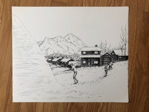 Image of Suburban Pinkerton original pen on paper