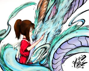 "Image of ""Spirited Away"" Original Painting"