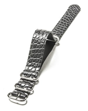 Image of Grey Alligator NATO strap