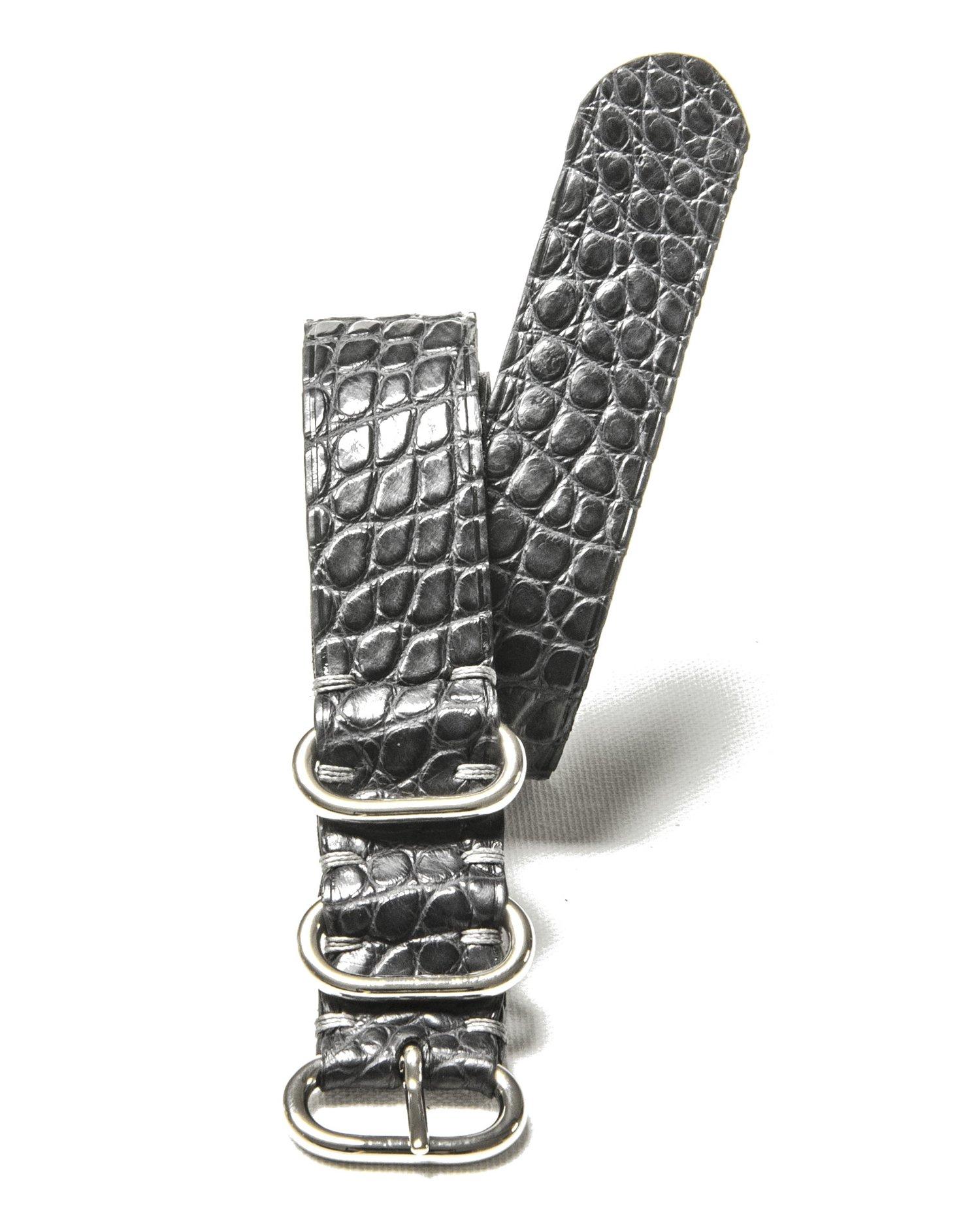 Image of Grey Alligator NATO strap