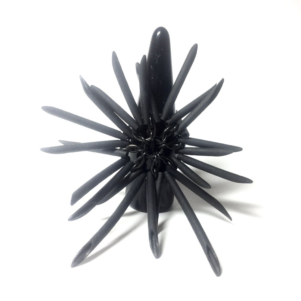 Image of Black Urchin Ring