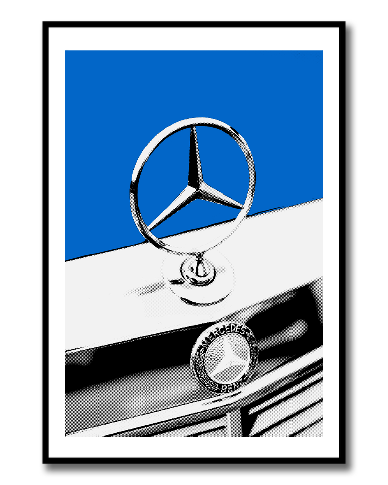 Image of Mercedes Pop Art Print