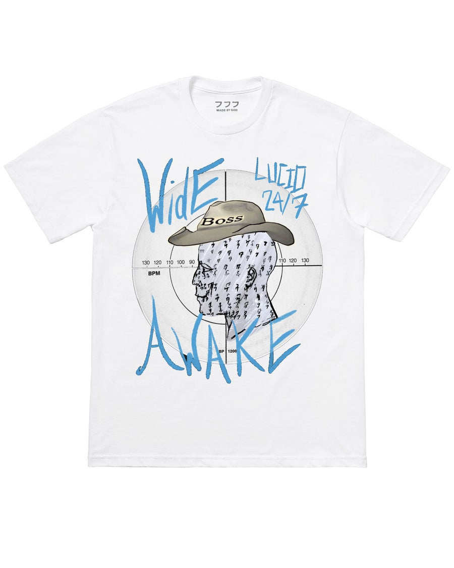 Image of WIDE AWAKE TEE (WHITE)