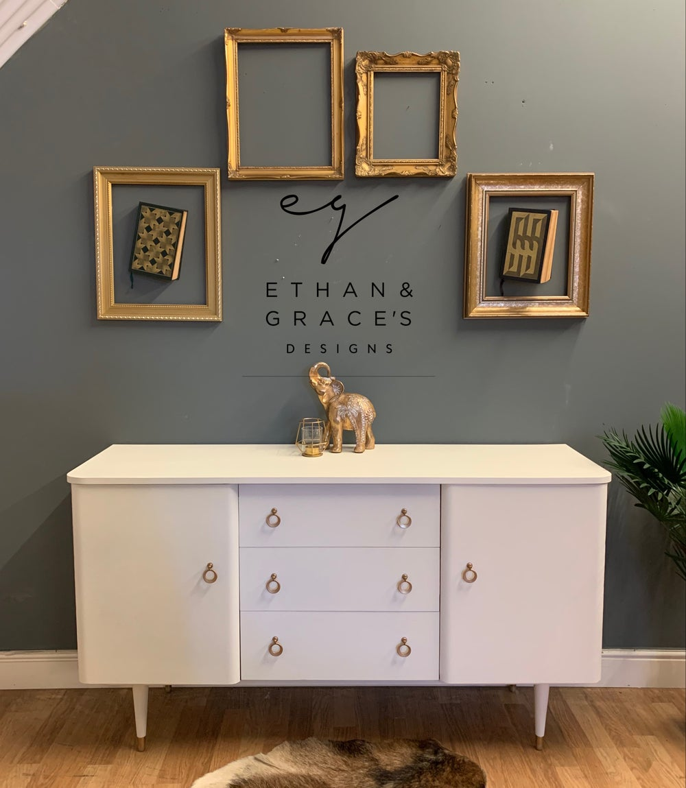 Image of Gold & white sideboard