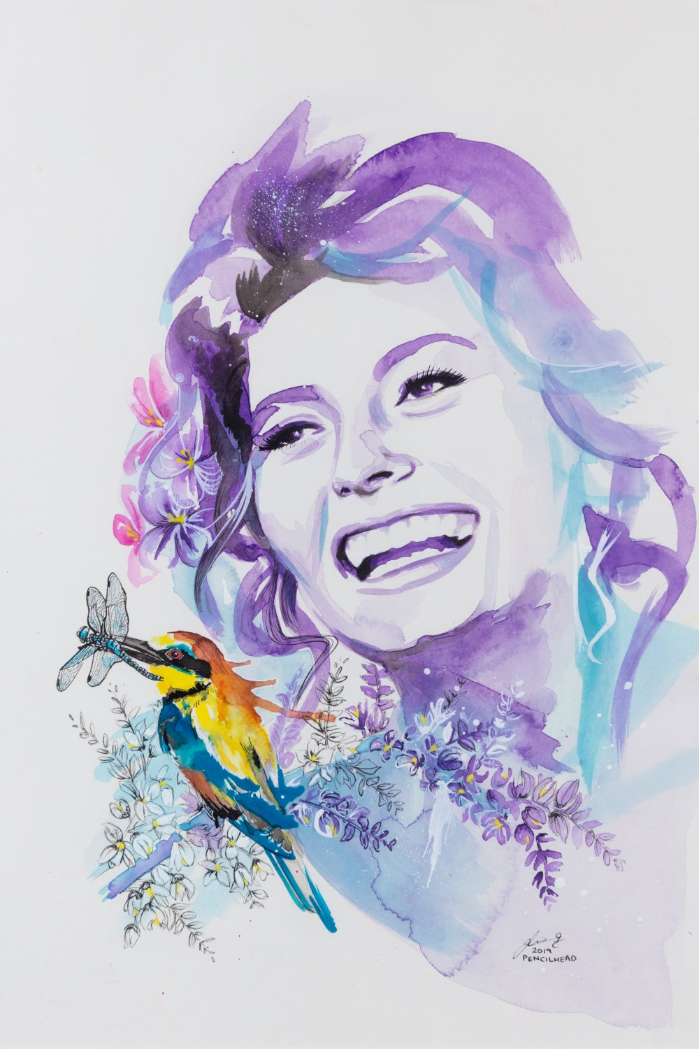"""Image of """"Beauty and the Bee-eater"""" - Original Artwork"""