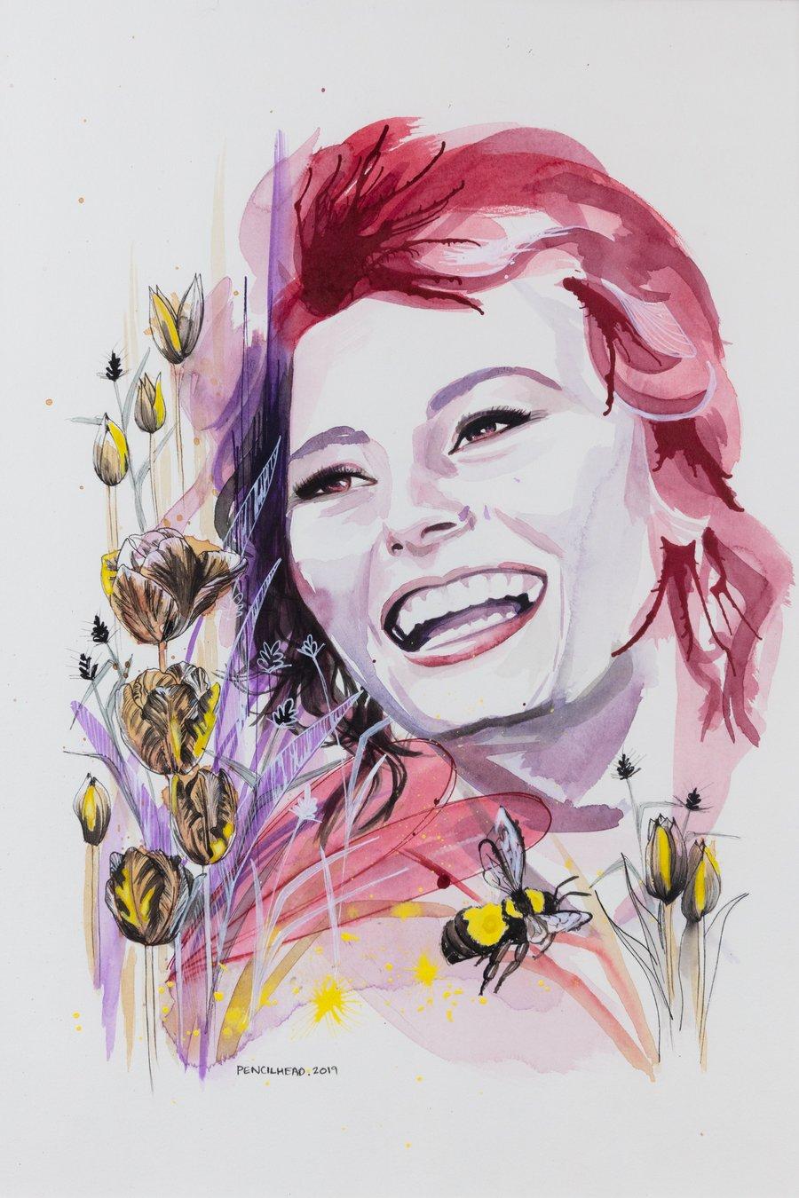 """Image of """"In the garden"""" - Original artwork"""