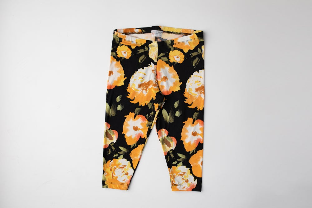 Image of Everyday Leggings- Marigold Floral