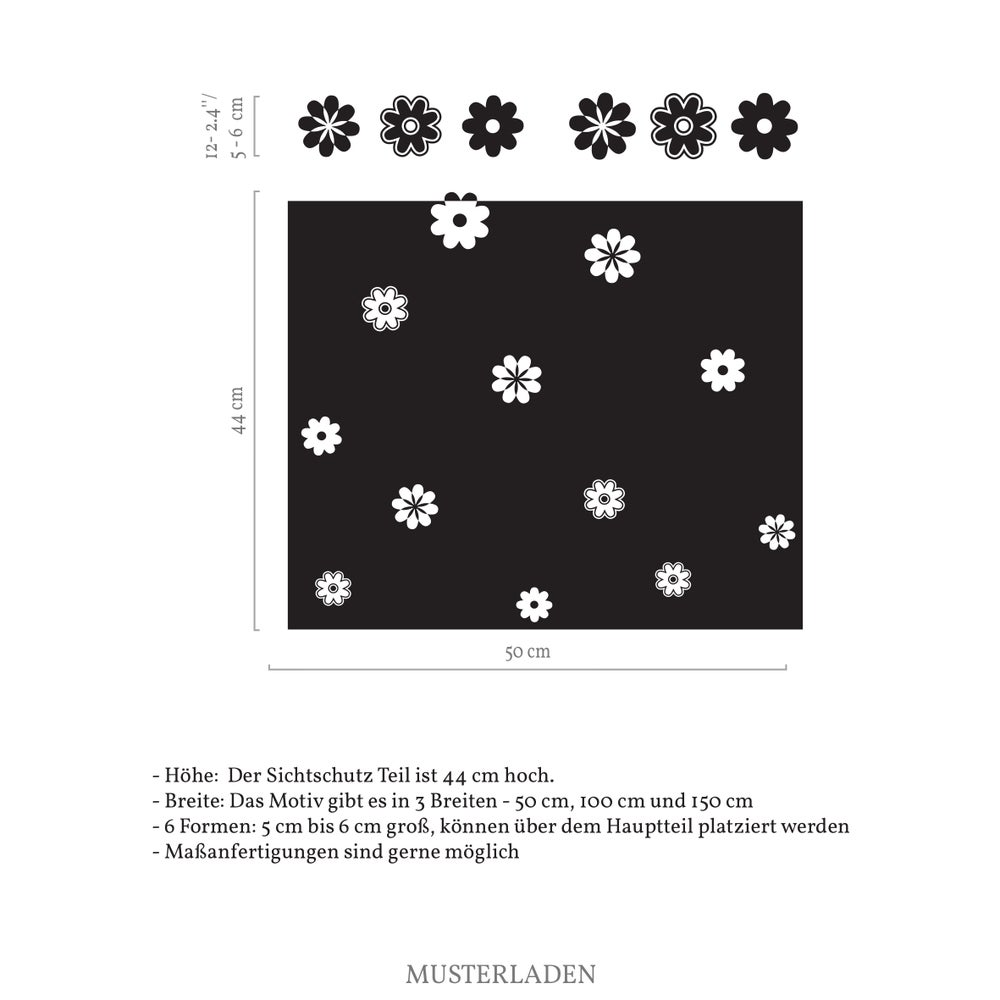 Image of Fenstertattoo Glasdekorfolie Blumen Alberta