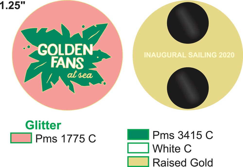 Image of GOLDEN FANS AT SEA COMMEMORATIVE PINS (PREORDER SHIPS AROUND 4/15)