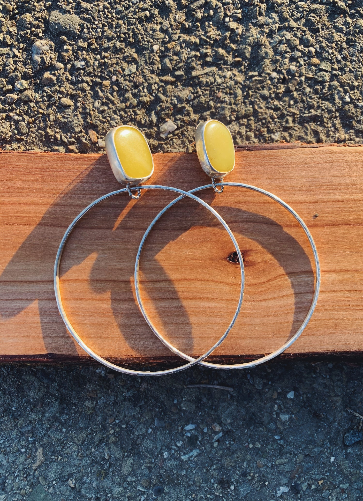 Image of RESERVED FOR JEAN: Lemon Hoops