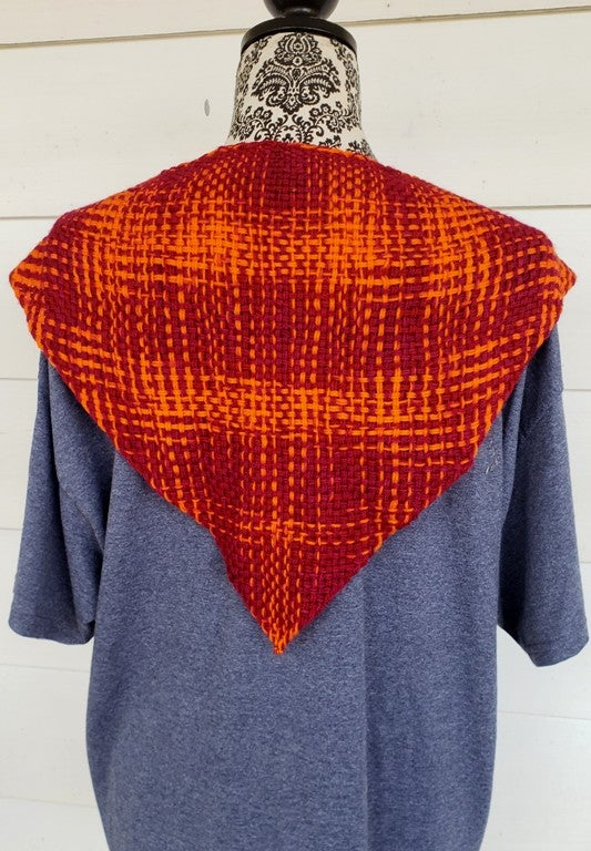 Image of Squires, handwoven shawlette- ONE LEFT