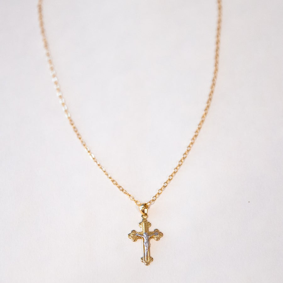 Image of The Gold & Silver Cross Necklace