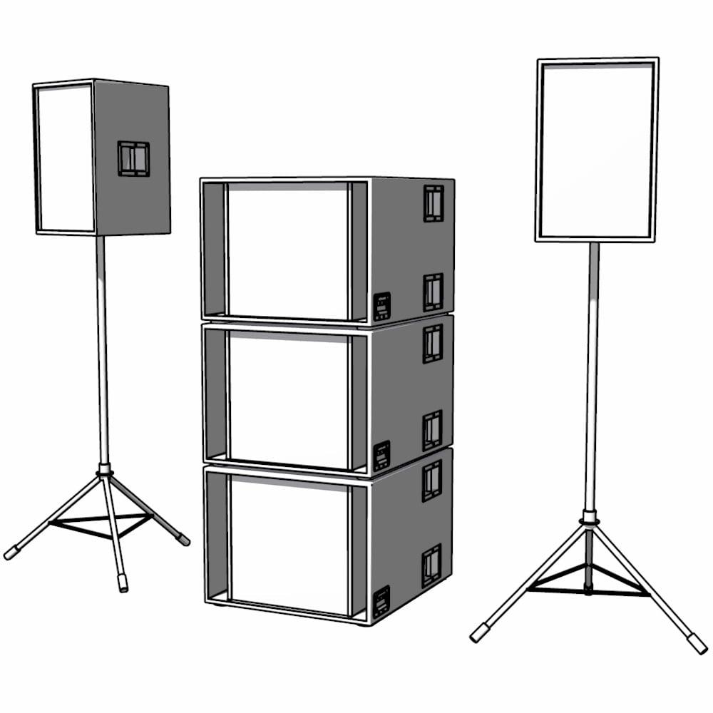Image of 2 x Espiella V2 + 3 x Unibass V2 = RCA 3