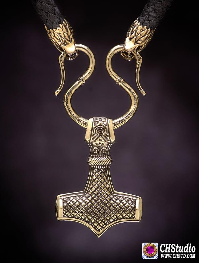 Thor's Hammer ::: MJOLNIR + Paracord Necklace