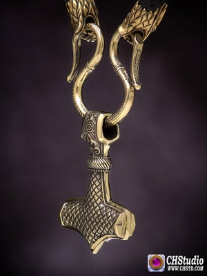 Image of Thor's Hammer ::: MJOLNIR + Paracord Necklace