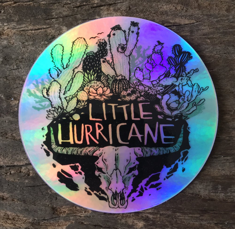 "Image of Little Hurricane ""Cactus"" Holographic sticker"