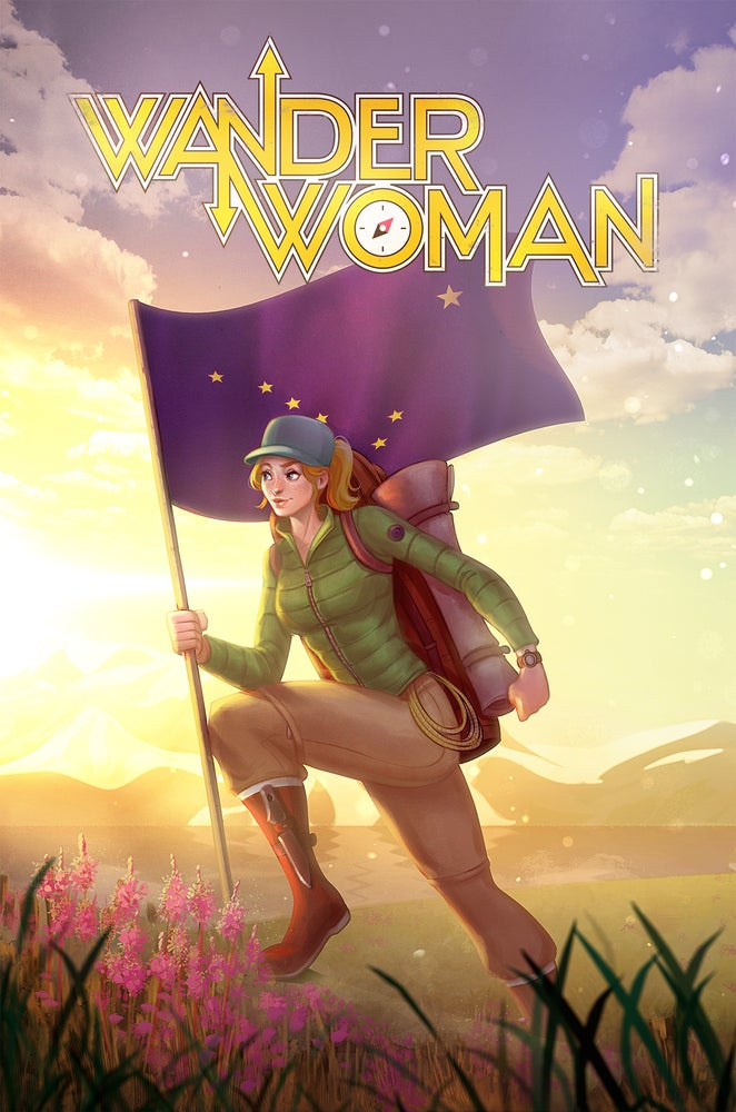"Image of Wander Woman poster - 24""x36"""