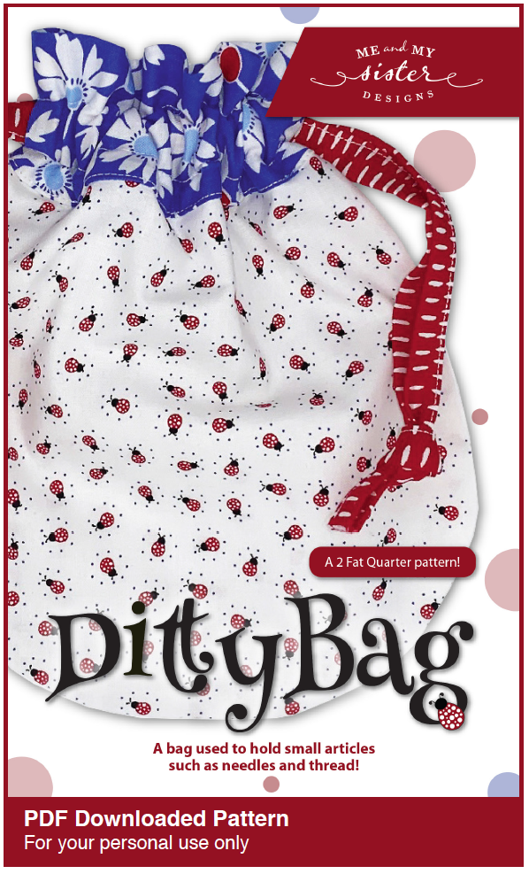 Image of Ditty Bag (2 Fat Quarter) Electronic PDF pattern
