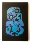 Image of Mr Tiki paua on black - Sale piece