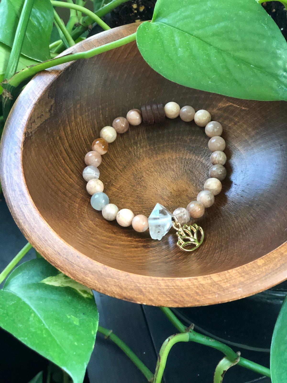 Image of SunStone Lotus Bracelet