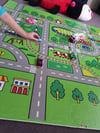 Foam play mat - town map