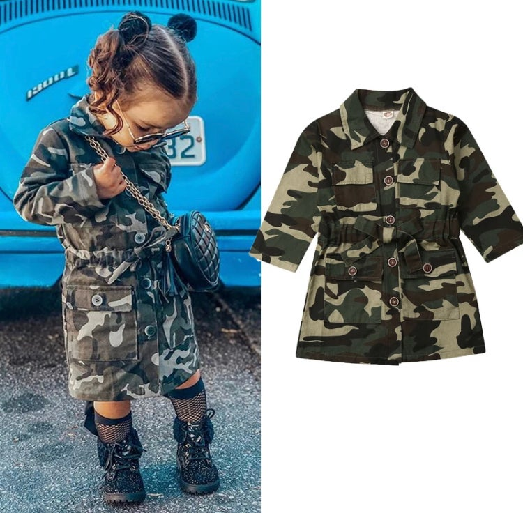Image of Girls camouflage jacket