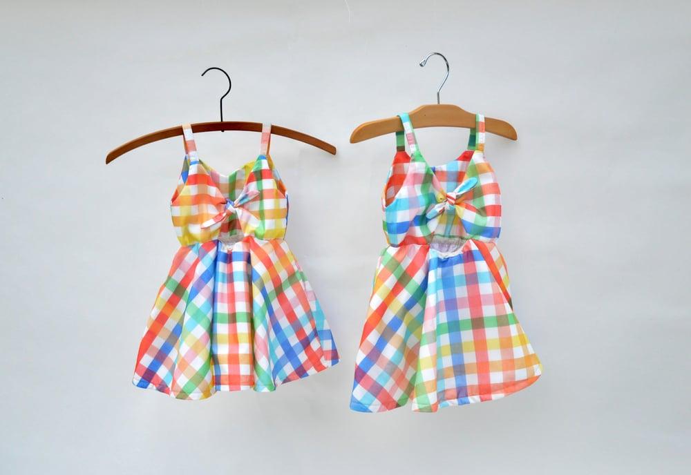 Image of Rainbow Plaid Sunday Dress